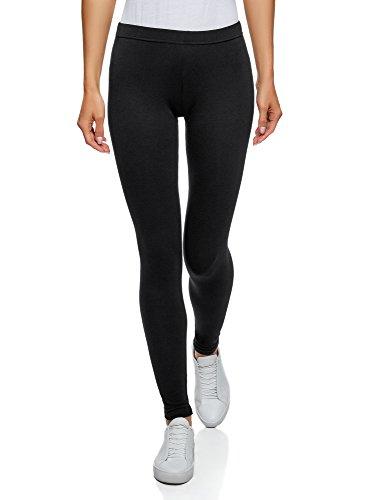 oodji Ultra Femme Legging Basique (Lot de 3) Noir (2900N)