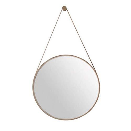 LXYPLM Wandspiegel Spiegel Eitelkeits-Kosmetikspiegel-Wohnzimmer-Schlafzimmer der dekorativen Wand-hängenden Spiegel-Rand-runden (Size : 80cm) -