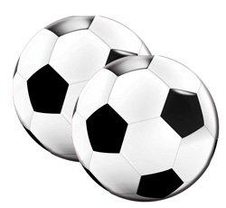 Fu�ball Servietten rund Party Soccer 20 St�ck Geburtstag Fu�ballparty