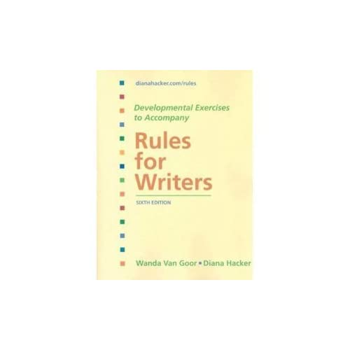 Rules for Writers: City College of San Francisco Edition [Sixth 6th Edition] by Diana Hacker (2009-08-01)