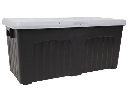 Ondis24 Aufbewahrungsbox XXL 265 Liter Rollbox Lagerbox Transportkiste Gerätebox (Anthrazit/Grau)