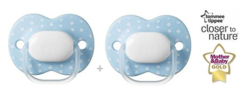 Tommee Tippee Little London N. 43341050-2X Succhietti physil ogical Siliconi/Blu (0-6m +)