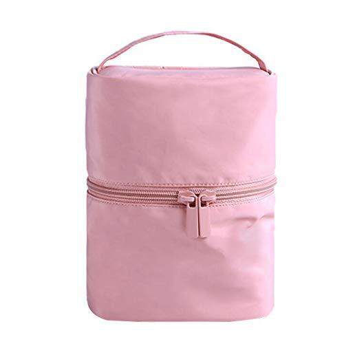 Multifonctionnel Sac De Cosmétique De Stockage Portable Imperméable De Grande Capacité Portable Simple De Lavage De Voyage Universel 5 Couleur 15 * 12 * 19cm MUMUJIN (Color : Pink)