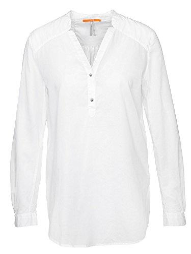 BOSS Orange Damen Bluse Weiß