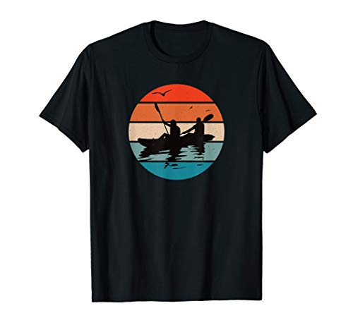 Cooles Tandem-Kajak Retro-Kajak fahren T-Shirt