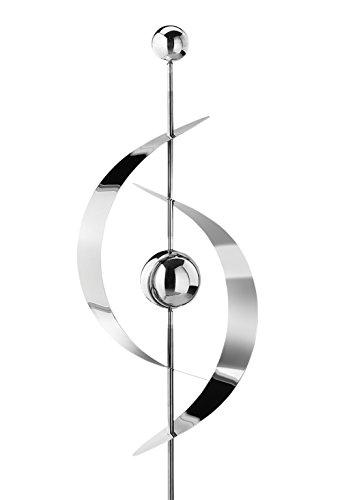 Kobolo Dekostecker Gartenstecker Saturn aus Edelstahl 130 cm