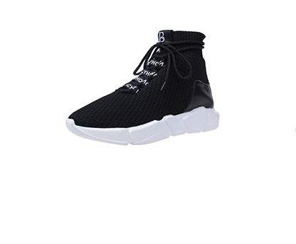 Sport schuhe Couples casual shoes Dicken sohlen Herbst-schuhe Socken schuhe-schwarz Fußlänge=25.3CM(10Inch) (Womens-laufschuhe 10)