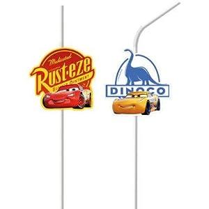 Procos - Pack de 6 pajitas Cars 3, multicolor, PR89259