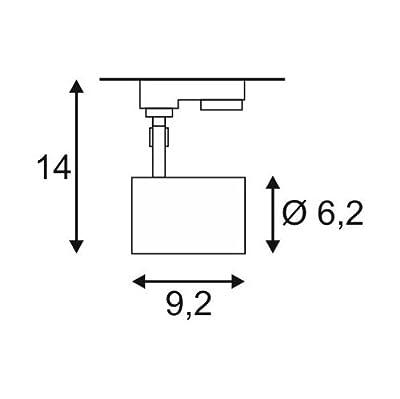 SLV LED 3-Phasen Strahler Debasto, 8W, COB, 3000 K, 30 Grad, inklusiv Adapter, weiß 152951