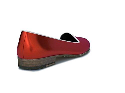 Dis - Lucrezia - Mocasín - Mujer, Rojo Rojo
