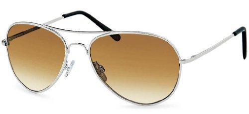 Sonnenbrille Pilotenbrille verschiedene Farben Fliegerbrille mit Federscharnieren an den Bügeln +...