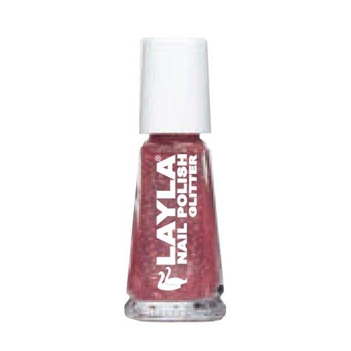 LAYLA COSMETICS Nagel Glitter Pink Maniküre-Nagel-Kunst -