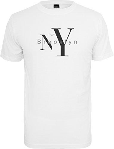 Mister Tee Herren Ny Brooklyn Tee T-Shirt white