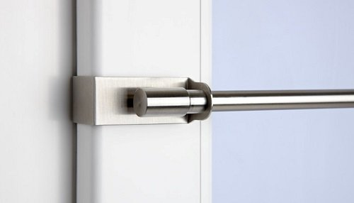 CG-Sonnenschutz Klemmstange Easy Fix edelstahl-optik ausziehbar 45-75cm oder 75-125cm ohne Bohren Vitrage zum Klemmen Klemmstange (45 - 75 cm)