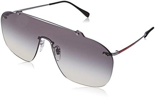 Prada Sport Herren 0PS51TS 5AV130 37 Sonnenbrille, Grau (Gunmetal/Grey),