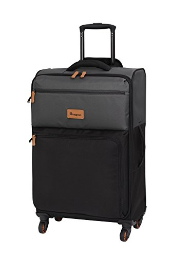 it luggage Duotone The Lite 4 Wheel Lightweight Suitcase Medium Koffer, 67 cm, 61 liters, Grau (Charcoal Grey + Black)