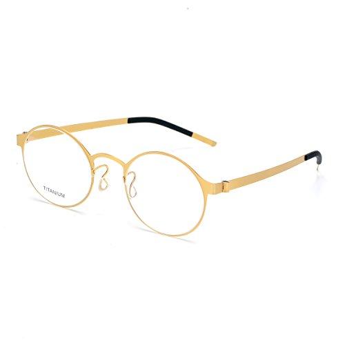 SO SMOOTH WIND Herren Brillengestell Medium Gr. Medium, Golden,demo clear lens