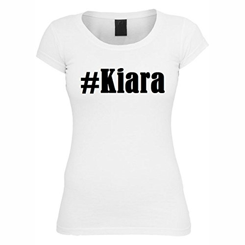 T-Shirt #Kiara Hashtag Raute für Damen Herren und Kinder ... in den Farben Schwarz und Weiss Weiß