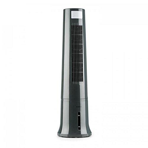 Klarstein Highrise Cool Line • Ventilateur • Rafraîchisseur • Fonction humidificateur • 3 Niveaux de Puissance • Fonction Nettoyage d'air • Humidificateur • 530 m³/h • Gris