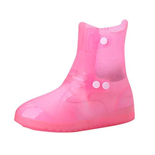 chte Überschuhe, Damen Herren Wiederverwendbar Überschuhe rutschfeste Regenstiefel Gummistiefel Einstellbar Regenbekleidung ()