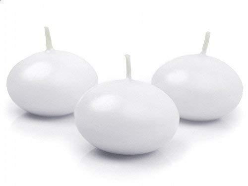 10 pezzi candela candele galleggianti galleggiante bianca da 5 cm