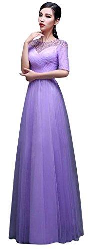 Drasawee - Robe - Moulante - Femme Violet - Violett - Violett