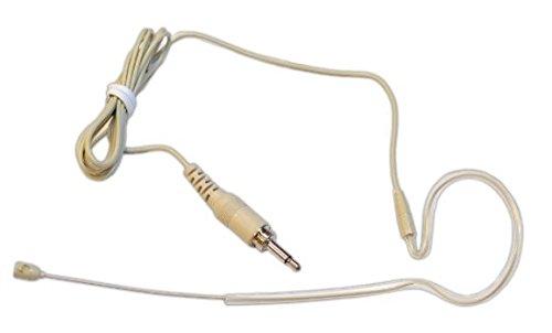Weymic® Tan 3.5mm Screw Single Ear Hook for Wireless Headset Microphone System -stealth Skin Color Earhook -