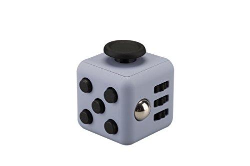 Stresswürfel wie Fidget Cube als perfektes Spielzeug für Wartezimmerbei oder der Arbeit entlastet Stress und Angst Spielzeug Geschenke für Kinder und Erwachsene (Silbergrau)