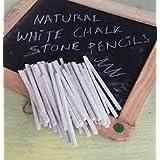 Trendz Handpicked 1/2kg Pack of Natural White Limestone Slate Pencils