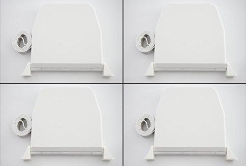 4x Rollwin Gurtwickler Aufputz mit Scharniersystem Farbe Weiß mit 5m Gurt 14mm Breite
