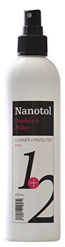 Nanotol Display-Reiniger/Screen Cleaner mit Lotuseffekt - Nano Spray für Smartphone, Tablet, Computer, Navi, TV, Telefon - Staub abweisend mit langfristiger Wirkung -