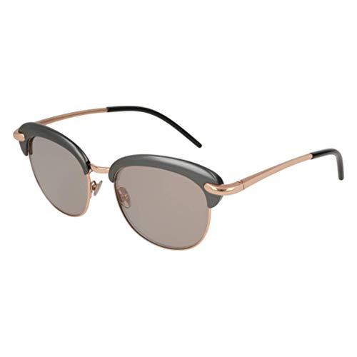 Pomellato pm0039s 002, occhiali da sole donna, grigio (002-ruthenium/brown), 52