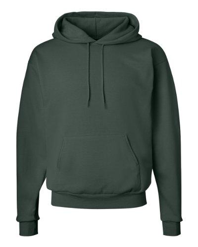 Hanes Mens 7.8 OZ. ComfortBlend EcoSmart 50/50 Pullover Hood(P170)-Deep Forest-M Comfortblend Fleece Pullover Hoodie