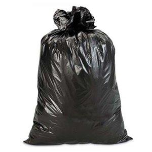 Sacchi spazzatura e immondizia - cm. 90x120 - Scatola maxi scorta da Kg. 18 - Buste grandi di colore nero ideali per rifiuti, raccolta differenziata, bidoni domestici, giardinaggio, condomini, nettezza urbana ed usi industriali