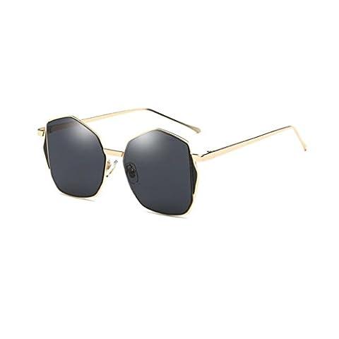 Zolimx Damen Männer Retro klassischer Rahmen Vintage Spiegel Sonnenbrillen (Schwarz)