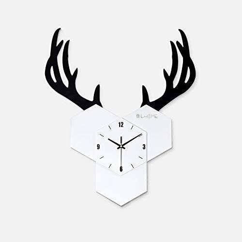 Ibalody nordic creativo wooden antler orologio da parete soggiorno personalità moda wall grafici moderno semplice famiglia soggiorno camera da letto corridoio decorativo orologio da parete