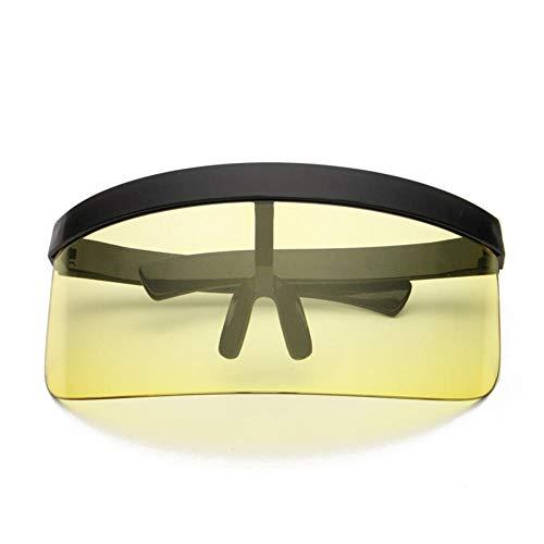 ANSKT Radsportbrille, integrierte Anti-Peeping-Sonnenbrille mit Persönlichkeitsmaske, Trendige Sonnenbrille mit großem Kasten und Hut @ 4