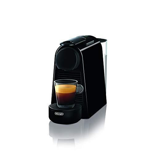 De\'Longhi Nespresso Essenza Mini EN 85.B Kaffeekapselmaschine Welcome Set mit Kapseln in unterschiedlichen Geschmacksrichtungen 19 bar Pumpendruck, Platzsparend, Schwarz