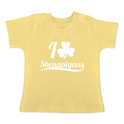 Up to Date Baby - I Heart Shenanigans - St. Patricks Day - 12-18 Monate - Hellgelb - BZ02 - Baby T-Shirt Kurzarm