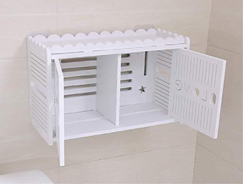 LELME Toilettenpapier-Tuch-Kasten Kreativ Kein Lochender Wand-Hängender Toilettenpapier-Zahnstange (Holz Hängende Kästen)
