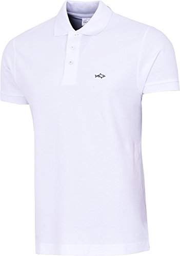 John Shark Polo Shirts Mens Neck Tops Designer Cotton Embroidered Tshirts Golf Rugby Casual