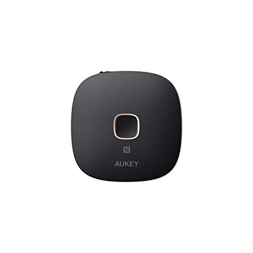 AUKEY Bluetooth Empfänger 4.1, NFC-fähiger kabelloser Audio Adapter mit Doppel-Verbindung, Freisprechfunktion für zu Hause und Audio System im Auto