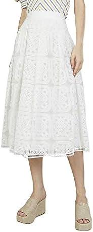 Iconic Women's 2091026 SS23MESHLCSK Asymmetric Woven Skirt, C