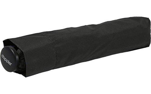 Doppler zero, Mini Damen Taschenschirm, 21 cm, 90 liters,Schwarz (Noir) (Schwarzen Regenschirm Hut)