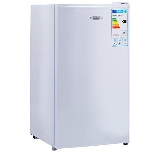 Mini Réfrigérateur à Boissons Table Top 91L Compact [Classe Energétique A+] Réfrigérant R600a avec 1 Porte 48,5 x 44,5 x 83,5 cm Blanc