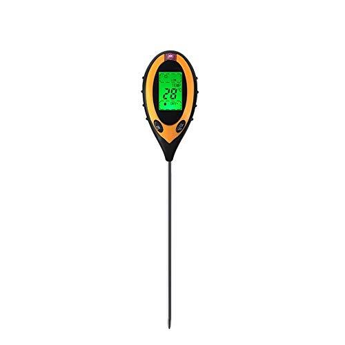 GrandBeing 4 in 1 Bodentester Boden test Bodenmessgerät Bodenfeuchtigkeitsmessgerät Boden PH-Wert Temperatur Luftfeuchtigkeit Sonnenlicht für innenbereich/Außenbereich Wasser Licht Test