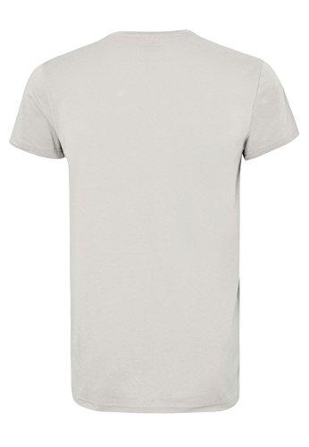 SUBLEVEL Herren T-Shirt - Wilderness   Leichtes Basic Print-Shirt aus reiner Baumwolle Light-Grey