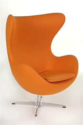 semUp Ei Sessel Egg Chair Reproduktion von Arne Jacobsen Design, Zeitlos, Orange