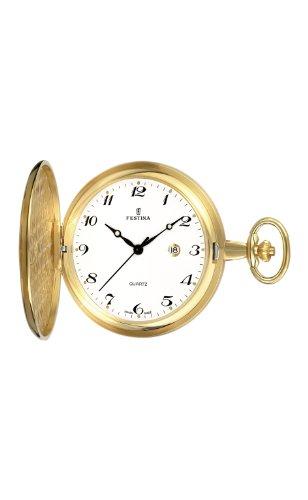 Festina Herren-Armbanduhr XL Klassik Taschenuhren vergoldet Analog Edelstahl beschichtet F2015/1