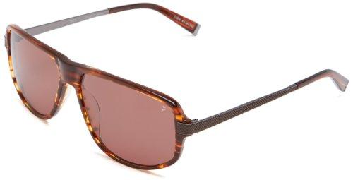John Varvatos V780 Rechteckig Sonnenbrille, Brown